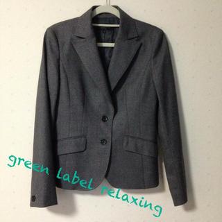 グリーンレーベルリラクシング(green label relaxing)の送料込♡グレージャケット(テーラードジャケット)