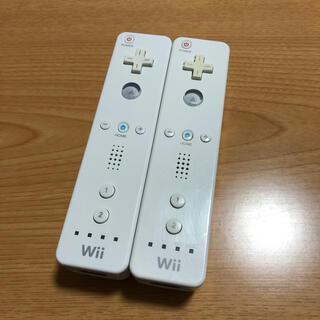 ウィー(Wii)の任天堂Wiiリモコン ホワイト2本セット(その他)