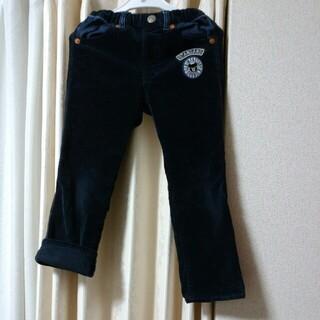 ダブルビー(DOUBLE.B)のマリメッコ様専用120cmダブルBベロアパンツ紺色ワッペン(パンツ/スパッツ)