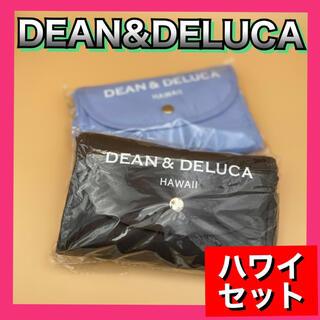 ディーンアンドデルーカ(DEAN & DELUCA)のDEAN&DELUCA エコバッグ 限定ハワイ版2個セット グレー+ライトブルー(エコバッグ)