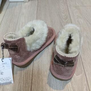 エフオーキッズ(F.O.KIDS)の新品タグ付☆アプレレクール☆ムートンブーツ☆16cm(ブーツ)