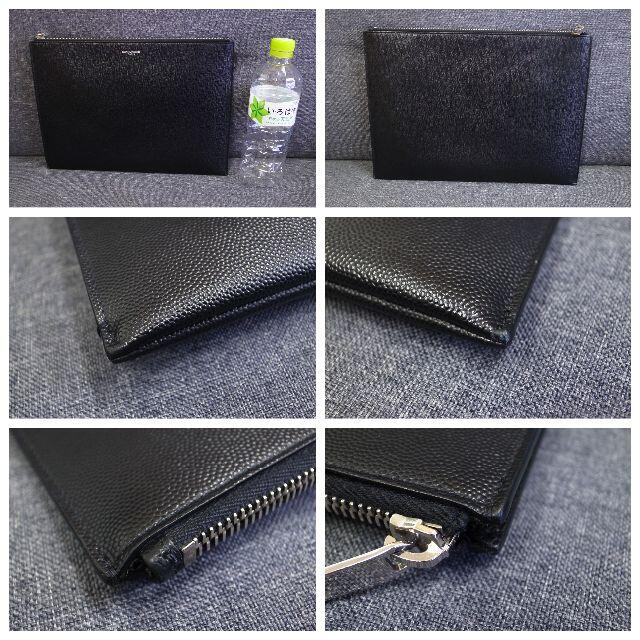 Saint Laurent(サンローラン)の正規品☆サンローラン クラッチバッグ 黒 ロゴ クラッチ バッグ 財布 小物 メンズのバッグ(セカンドバッグ/クラッチバッグ)の商品写真