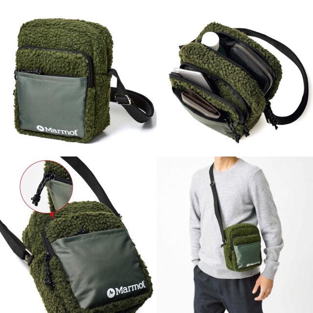 MARMOT(マーモット)の【MonoMax 2020年12月号付録】マーモット フリースショルダーバッグC メンズのバッグ(ショルダーバッグ)の商品写真
