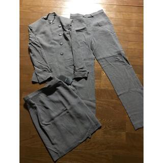◆新品保管品◆LENETT◆濃いグレースカート+パンツスーツ◆(スーツ)