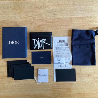 ディオール(Dior)のほぼ未使用!Dior x Stussy コラボ パスケース カードケース(名刺入れ/定期入れ)