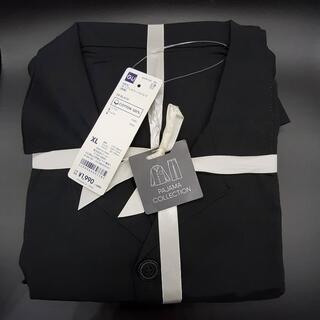 GU - GU オープンカラーパジャマXLサイズ ブラック ジーユー