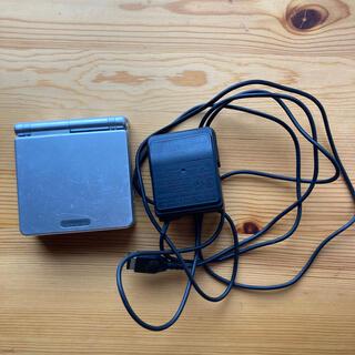 ゲームボーイアドバンス(ゲームボーイアドバンス)のニンテンドー ゲームボーイ アドバイス SP シルバー 充電ケーブル付き(携帯用ゲーム機本体)