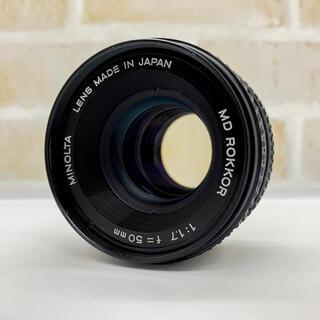 コニカミノルタ(KONICA MINOLTA)のMINOLTA MD ROKKOR 50mm f1.7(レンズ(単焦点))