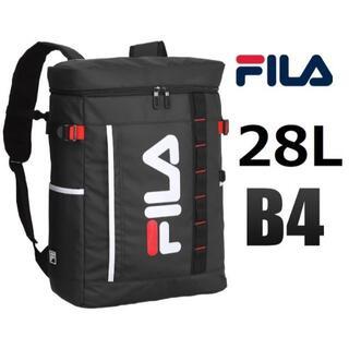 フィラ(FILA)の値下げ※ラスト1点■FILA《フィラ》スクエア型リュックサック28L  ブラック(バッグパック/リュック)