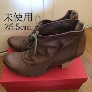 サヴァサヴァ(cavacava)の未使用 cavacava  ショートブーツ 茶色 25.5cm(ブーツ)