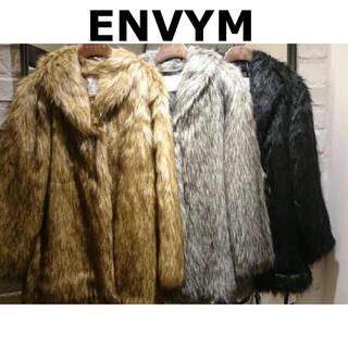 アンビー(ENVYM)のENVYM◇アンビー MIXファーコート(毛皮/ファーコート)