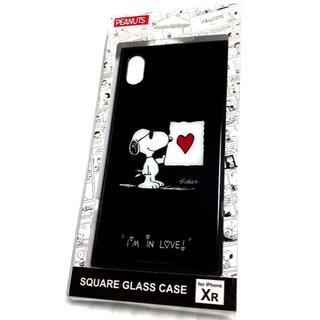 ピーナッツ(PEANUTS)のピーナッツiPhone XR対応 スクエアガラスケース  ジョー・クール(iPhoneケース)