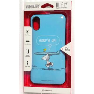ピーナッツ(PEANUTS)のピーナッツ iPhoneXR対応IIIIfitケース(サーフズ・アップ)(iPhoneケース)
