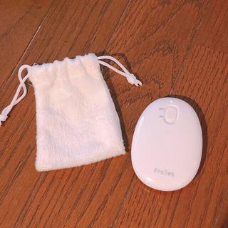 充電式カイロ 白 巾着付き(電気ヒーター)