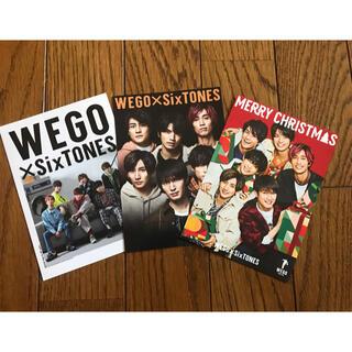 ウィゴー(WEGO)のSixTONES ポストカード(アイドルグッズ)