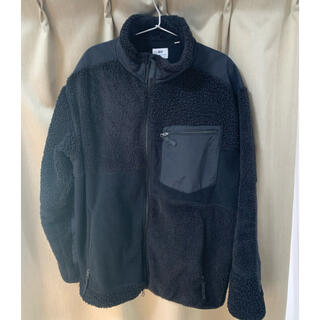エンジニアードガーメンツ(Engineered Garments)のエンジニアードガーメンツ  UNIQLO フリースジャケット ブラック XL(ブルゾン)