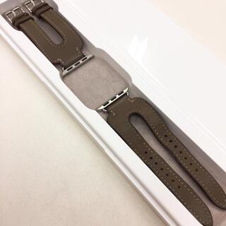 Apple Watch - 廃盤デザイン アップルウォッチ レザーベルト ダブルカフ エルメス Apple
