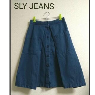 スライ(SLY)のSLY JEANS デニムAラインスカート Mサイズ(ひざ丈スカート)