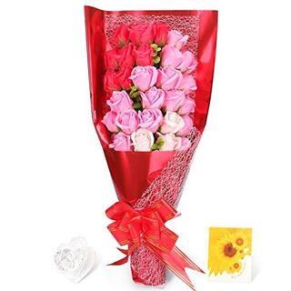 誕生日プレゼント 母の日プレゼント花束 石鹸花 バラ 造花 プレゼント(その他)