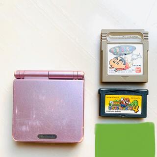 ゲームボーイアドバンス(ゲームボーイアドバンス)のゲームボーイアドバンスSP 本体 ピンク(携帯用ゲーム機本体)