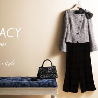 エムズグレイシー(M'S GRACY)の新品 エムズグレイシー web掲載 リボンベロアパンツ 黒(カジュアルパンツ)