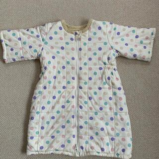 【中古】着る布団 毛布 中綿 スリーパー(ベビー布団)