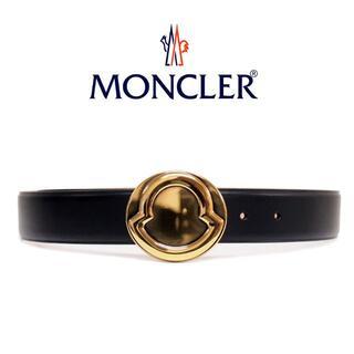 モンクレール(MONCLER)の1 MONCLER ブラック レザー ベルト 男女兼用 size 75(ベルト)