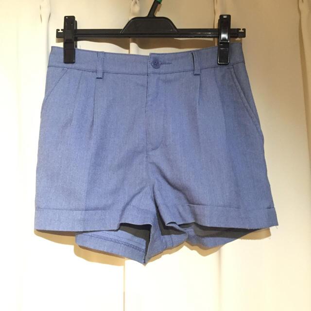 H&M(エイチアンドエム)のH&M ブルーショートパンツ レディースのパンツ(ショートパンツ)の商品写真