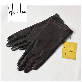 シビラ(Sybilla)の《Sybilla シビラ》新品 羊革使用 レザー手袋 茶 プレゼントにも (手袋)