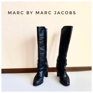 マークバイマークジェイコブス(MARC BY MARC JACOBS)のMarc by Marc Jacobs 本革ロングブーツ ブラック(ブーツ)