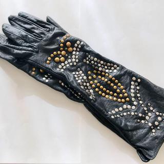 ザラ(ZARA)のザラ ロング手袋 ロンググローブ レザー スタッズ(手袋)