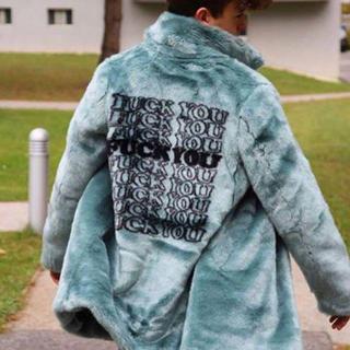 シュプリーム(Supreme)のERRY着用 supreme × HYSTERIC GLAMOUR ファーコート(ステンカラーコート)