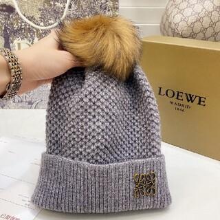 ロエベ(LOEWE)の極美品 ロエベ 帽子 ニット帽 美品 LOEWE 男女兼用(ニット帽/ビーニー)