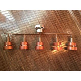 木製 シーリングライト 5灯 向き調節可能(天井照明)