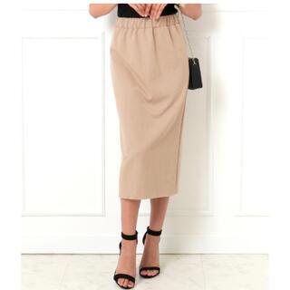アナップラティーナ(ANAP Latina)のLATINA バックスリットカットオフヘムリブナロースカート(ひざ丈スカート)
