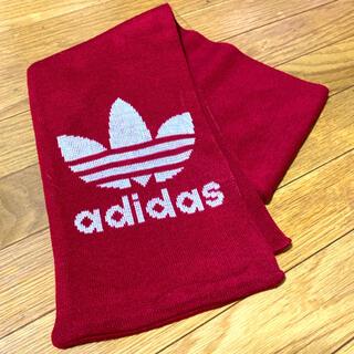 アディダス(adidas)のadidas アディダス マフラー 赤 レッド(マフラー/ストール)