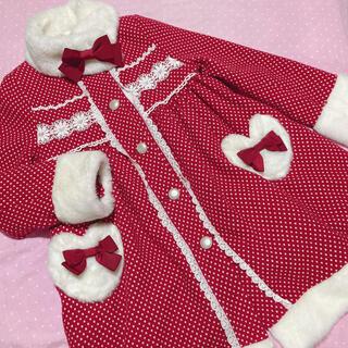 ベイビーザスターズシャインブライト(BABY,THE STARS SHINE BRIGHT)のベイビー コート 赤 ドットマーガレット(ロングコート)