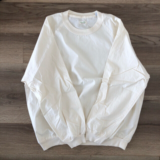 スティーブンアラン(steven alan)のオーバーサイズ オーガニックタイプライターシャツカットソー オフホワイト M(Tシャツ/カットソー(七分/長袖))