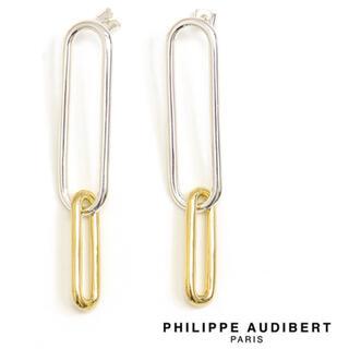 フィリップオーディベール(Philippe Audibert)のPHILIPPE AUDIBERT バイカラー  ピアス(ピアス)