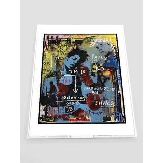 MB01-バスキア Basquiat  鏡 ミラー 薄型 折りたたみ式 雑貨(ミラー)