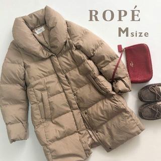 ロペ(ROPE)のロペ ROPE☆もこもこダウンコート ショールカラー ベージュ M(ダウンコート)