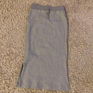 バックナンバー(BACK NUMBER)のright-on/リブニットスカート(ひざ丈スカート)