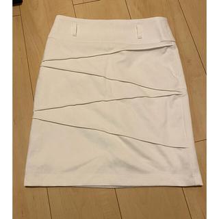 サリア(salire)の☆ ミニスカート 白 膝上 タイトスカート キャバ(ミニスカート)