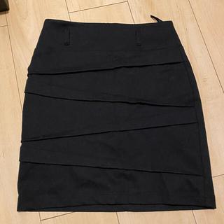 サリア(salire)の☆ ミニスカート 黒 膝上 タイトスカート キャバ(ミニスカート)