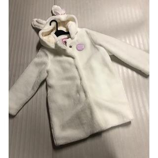 ◆Betty◆うさぎさんボリュームファーコート◆美品、白(コート)