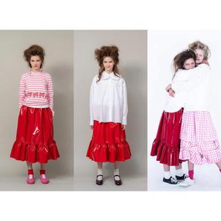 コムデギャルソン(COMME des GARCONS)の2020SS コムデギャルソンガール girl フェイクレザー スカート(ひざ丈スカート)