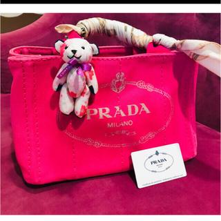 プラダ(PRADA)のプラダ キャンバスミニ ピンク(トートバッグ)