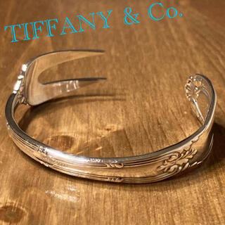 Tiffany & Co. - TIFFANY アンティーク エスカルゴフォーク バングル Old French