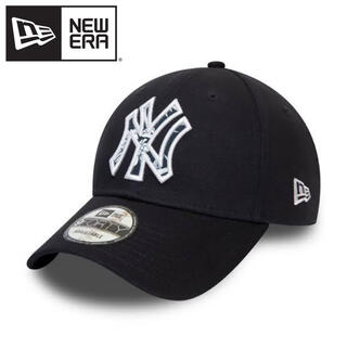 ニューエラー(NEW ERA)のニューエラ キャップ NY ヤンキース ネイビー 海外限定 ロゴ(キャップ)