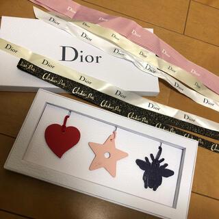 クリスチャンディオール(Christian Dior)のレザーチャーム&リボン5点(チャーム)